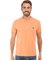 U.S. POLO ASSN. - Slim Fit Slub Space Dyed Henley T-Shirt