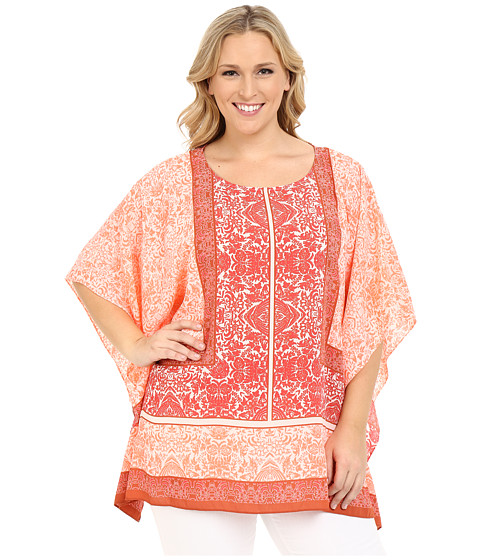 Vince Camuto Specialty Size Plus Size Maze Panel Poncho