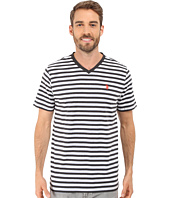 U.S. POLO ASSN. - Candy Striped V-Neck T-Shirt