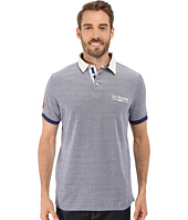 U.S. POLO ASSN. - Solid Pique Polo Shirt w/ Contrast Collar