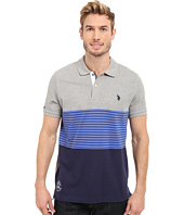U.S. POLO ASSN. - Striped Color Block Polo Shirt
