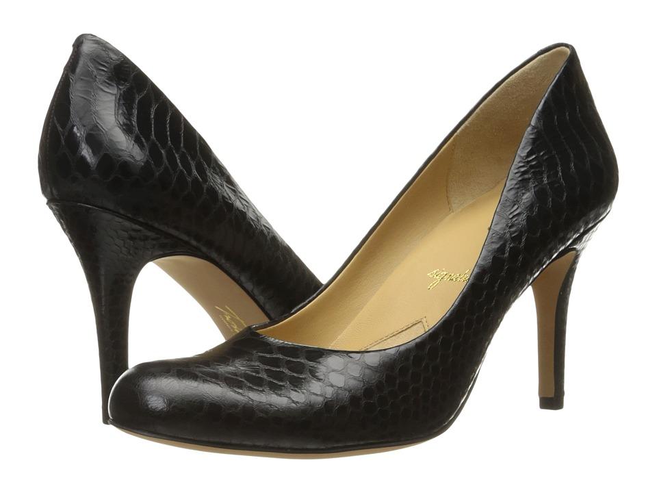 Trotters - Gigi (Black Metal Glazed Snake) High Heels