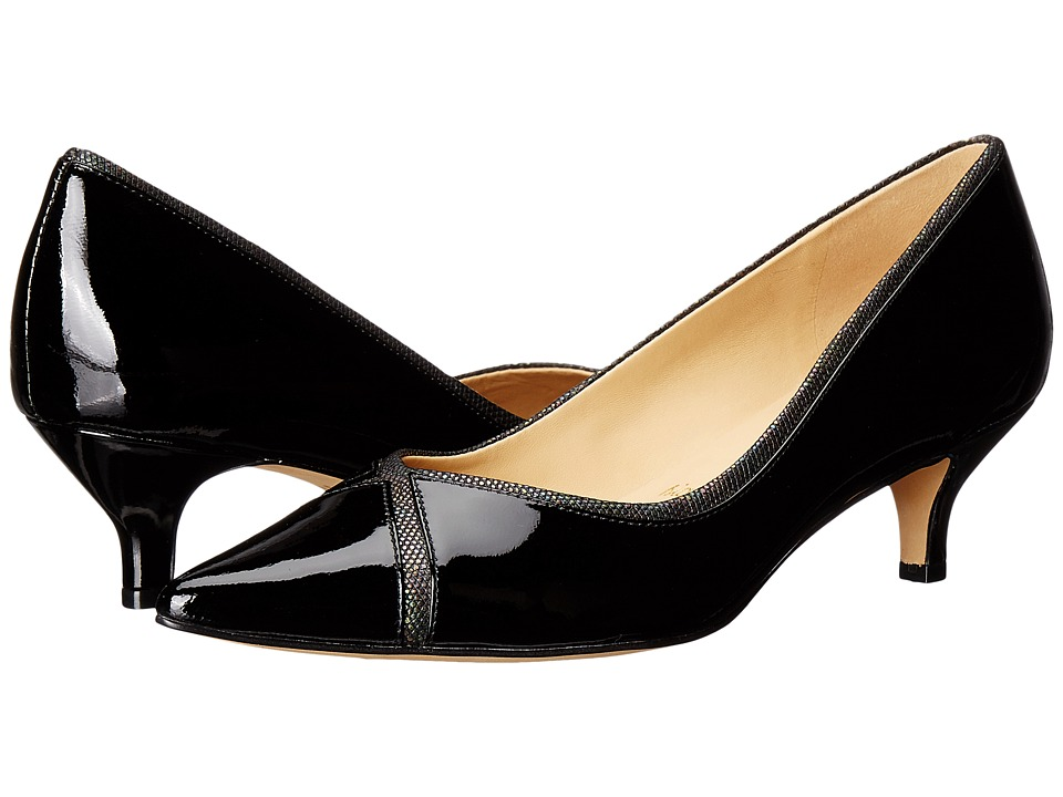 Trotters - Kelsey (Black Soft Patent Leather/Iridescent) Women