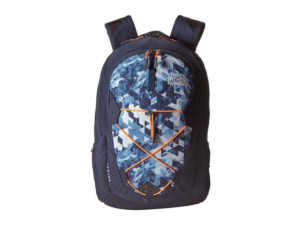 The North Face - Jester (Cosmic Blue Colortone Print/Shocking Orange) Backpack Bags