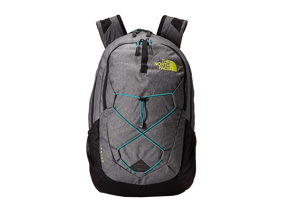The North Face - Jester (Zinc Grey Heather/Sulphur Spring Green) Backpack Bags