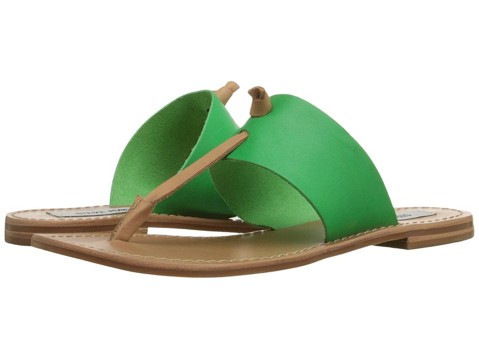 Steve Madden Olivia Green Multi Womens Sandals