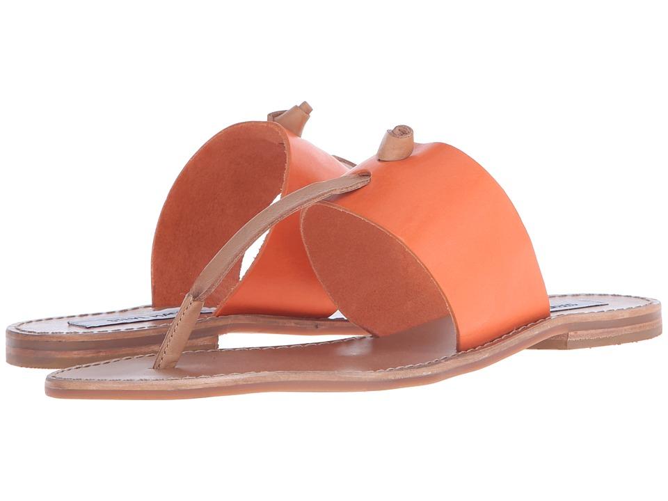 Steve Madden Olivia Orange Multi Womens Sandals