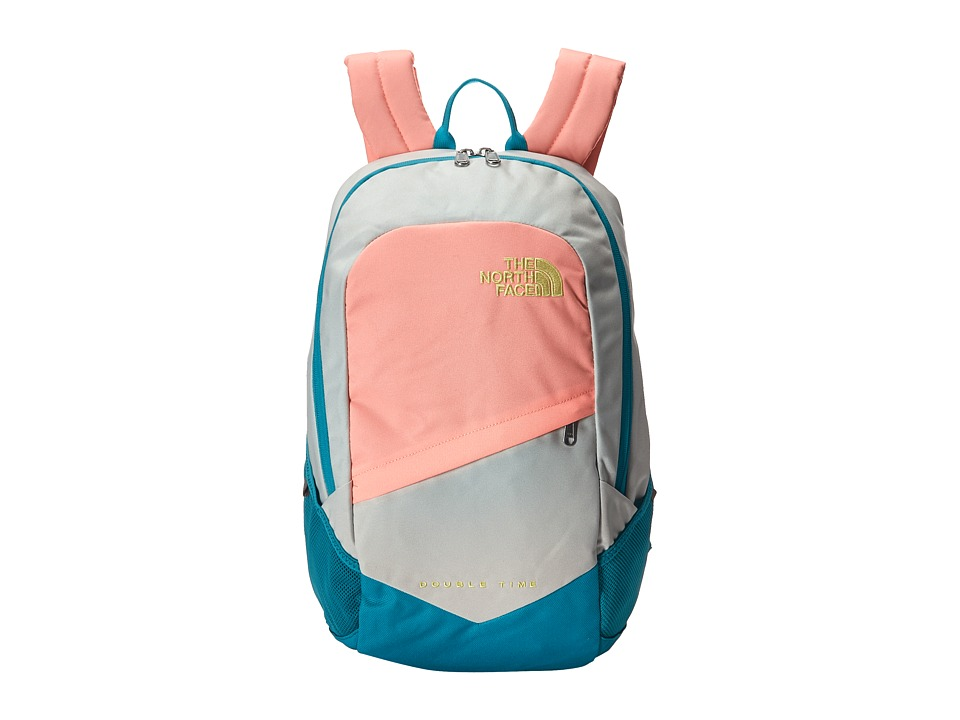 The North Face Double Time Backpack Tin Grey/Neon Peach Backpack Bags