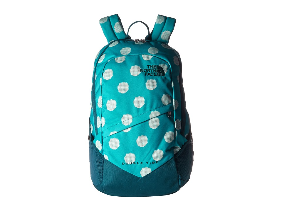 The North Face Double Time Backpack Bluebird Dot Print Backpack Bags