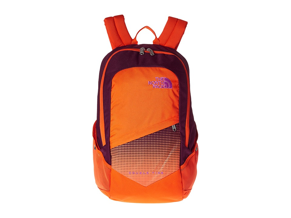 The North Face Double Time Backpack Pamplona Purple/Vermillion Orange Backpack Bags