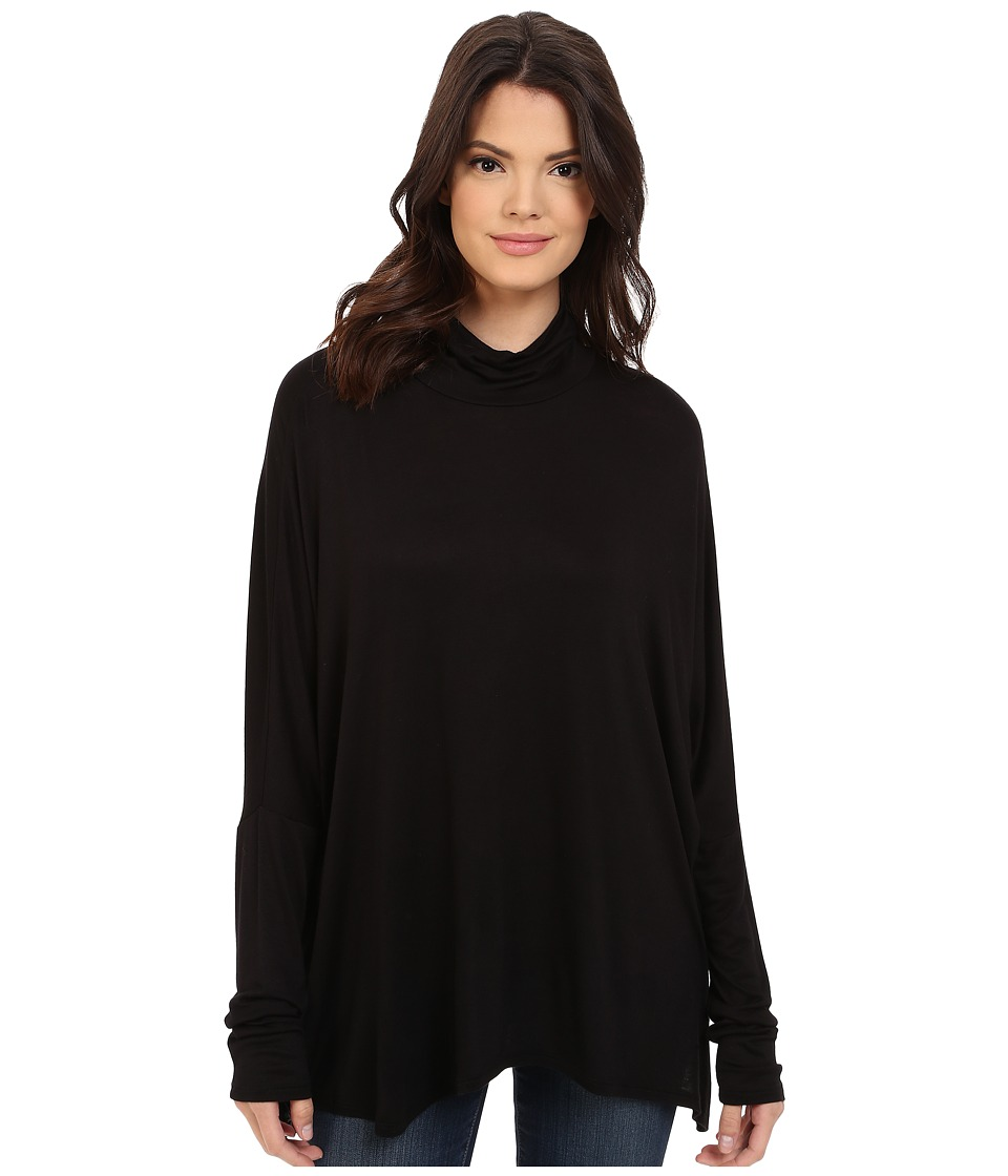 Project Social T Ann Mock Neck Black Womens Clothing