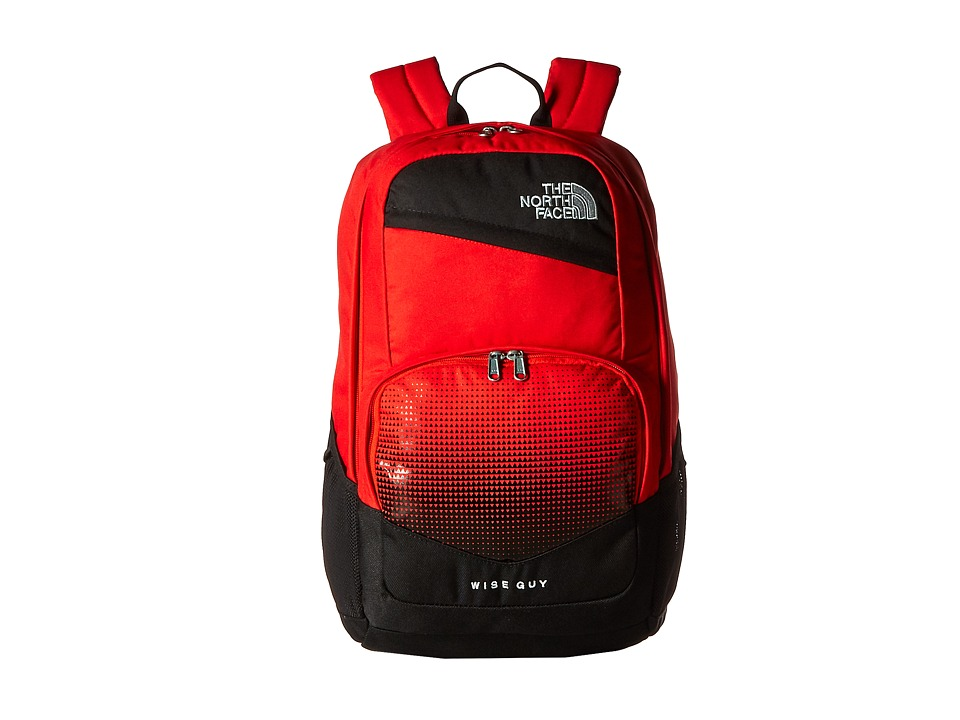 The North Face Wise Guy Backpack Fiery Red/High Rise Grey Backpack Bags