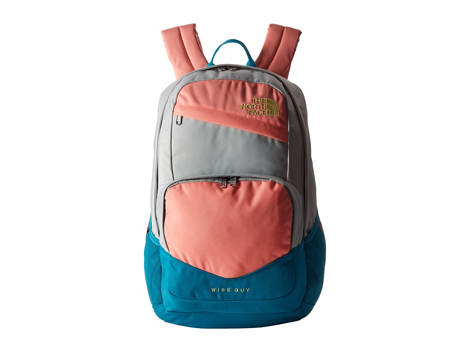 The North Face Wise Guy Backpack Tin Grey/Neon Peach Backpack Bags