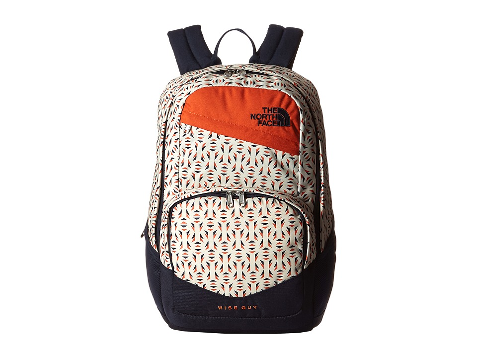The North Face Wise Guy Backpack Orange Rust Tribal Tribute Print Backpack Bags