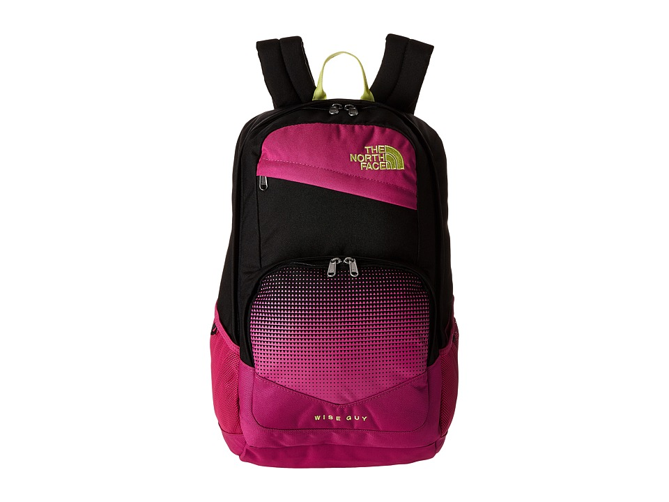 The North Face Wise Guy Backpack Rose Violet Pink/Hamachi Yellow Backpack Bags