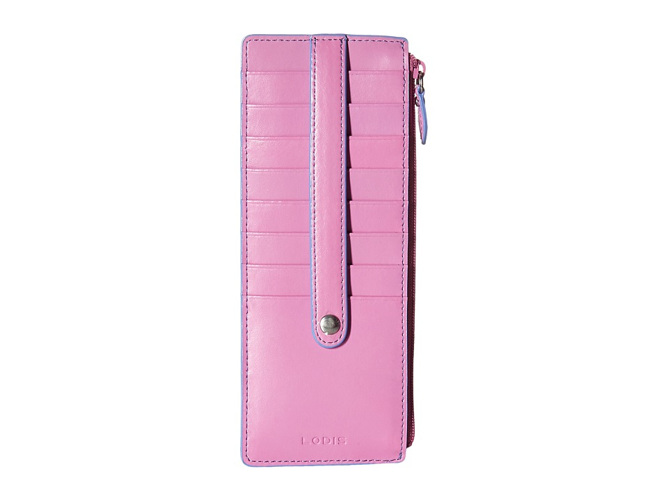 Lodis Accessories - Audrey Credit Card Case with Zipper Pocket (Rose/Lilac) Credit card Wallet
