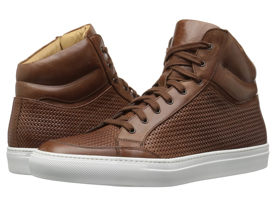 Aquatalia Asher Nut Woven Full Grain Mens Lace up casual Shoes