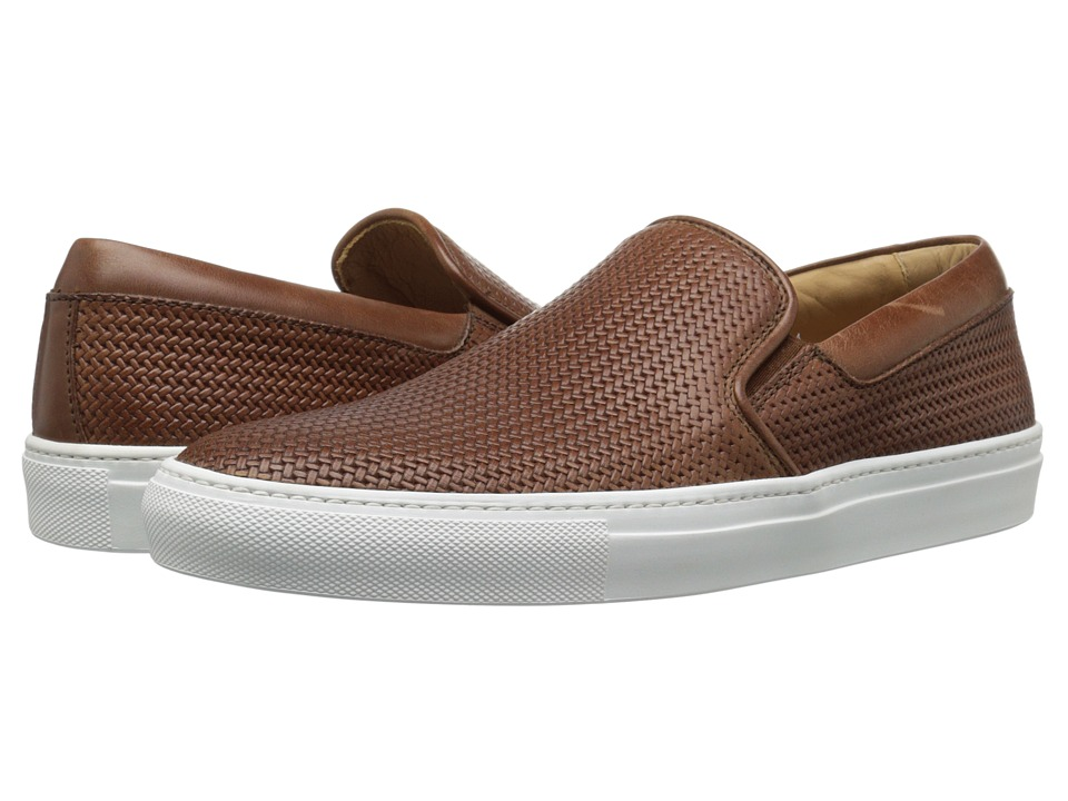 Aquatalia Anderson Nut Woven Full Grain Mens Slip on Shoes