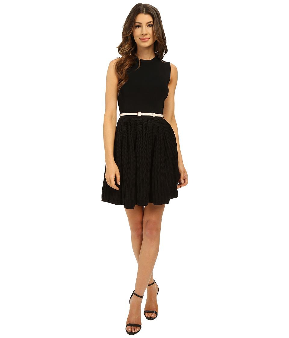 Ted Baker Alicii Bow Belt Knit Dress Black Womens Dress