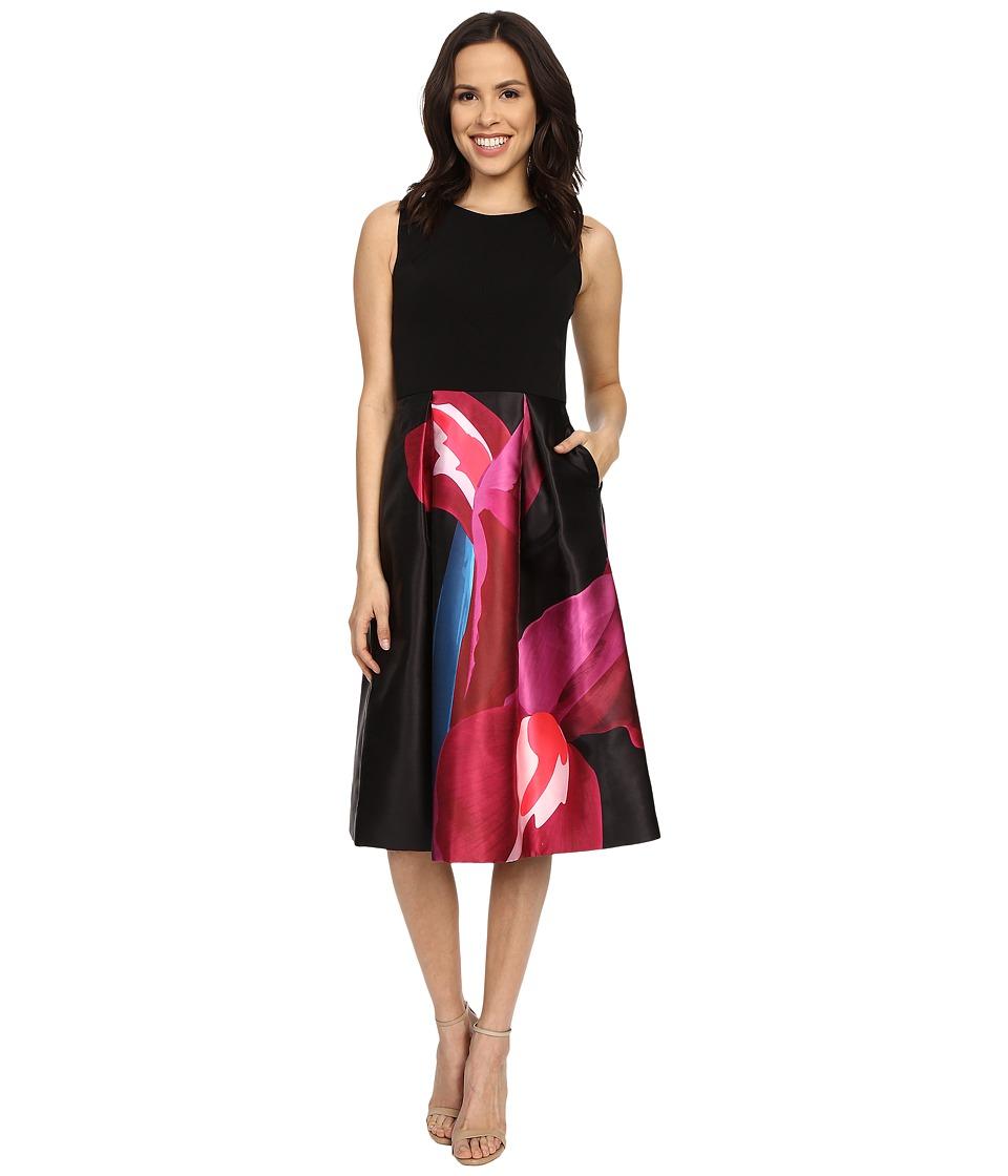 Ted Baker Kathlee Stencilled Stems Print Dress Deep Pink Womens Dress