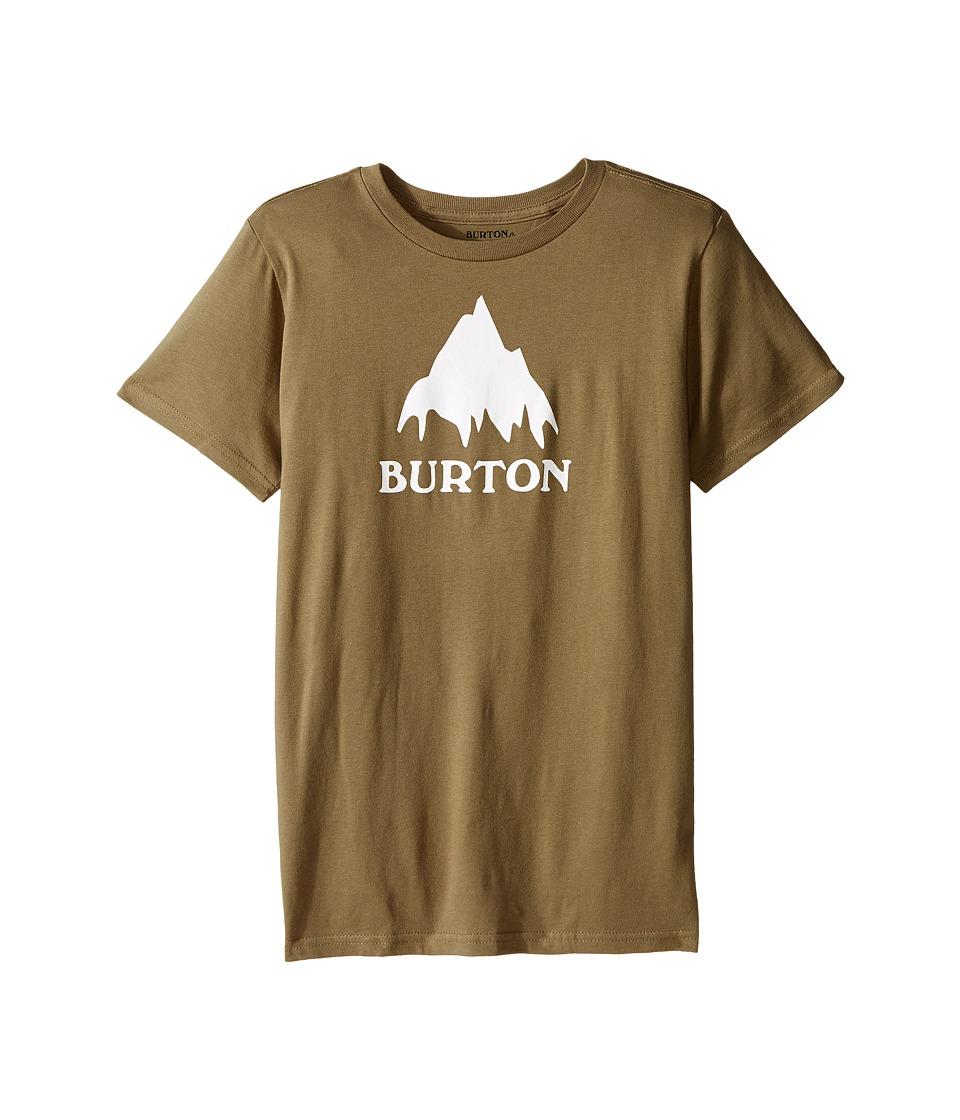 Burton Kids Classic Mountain S/S Tee (Big Kids) (Olive Branch) Boy