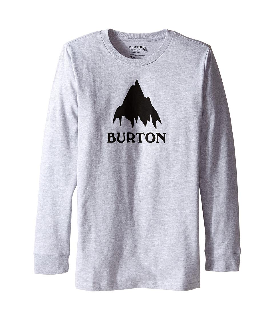 Burton Kids - Classic Mountain Long Sleeve Tee (Big Kids) (Gray Heather) Boy