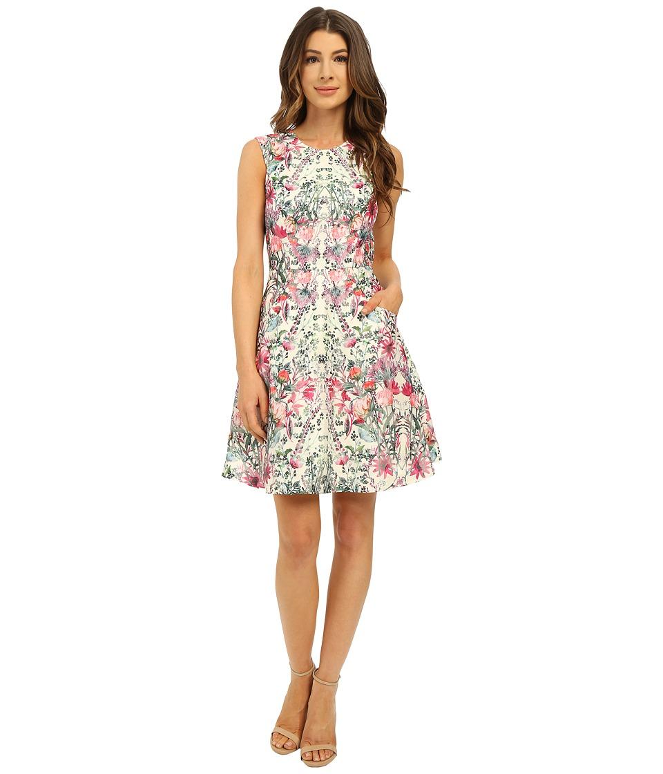 Ted Baker Gaea Layer Bouquet Full Skirt Dress Cream Womens Dress