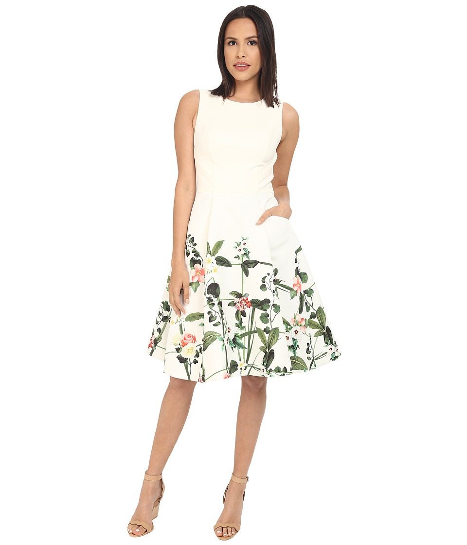 Ted Baker Karolie Secret Trellis Print Dress Cream Womens Dress