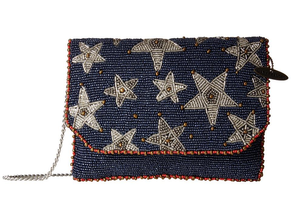 Mary Frances - Liberty Mini (Blue/Silver) Shoulder Handbags