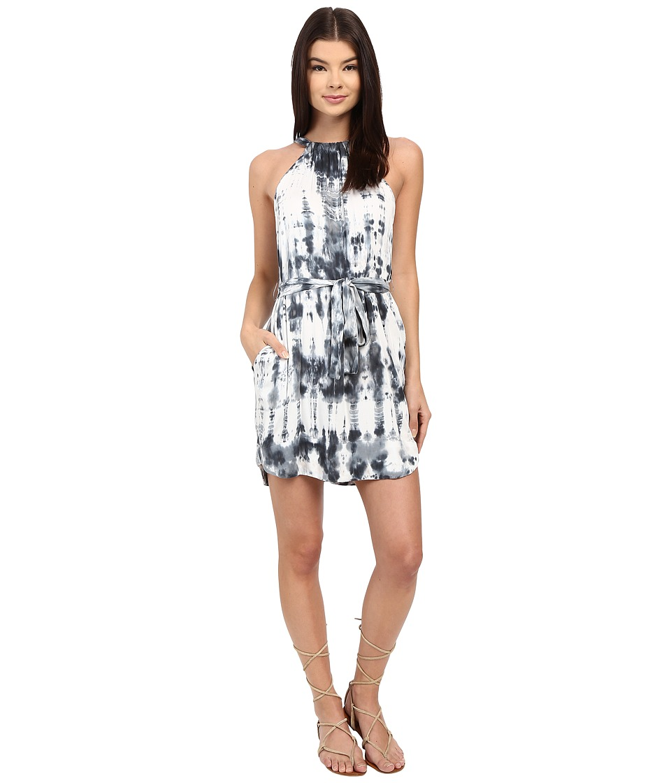 Gypsy05 Halter Mini Dress with Waist Belt Blue Womens Dress