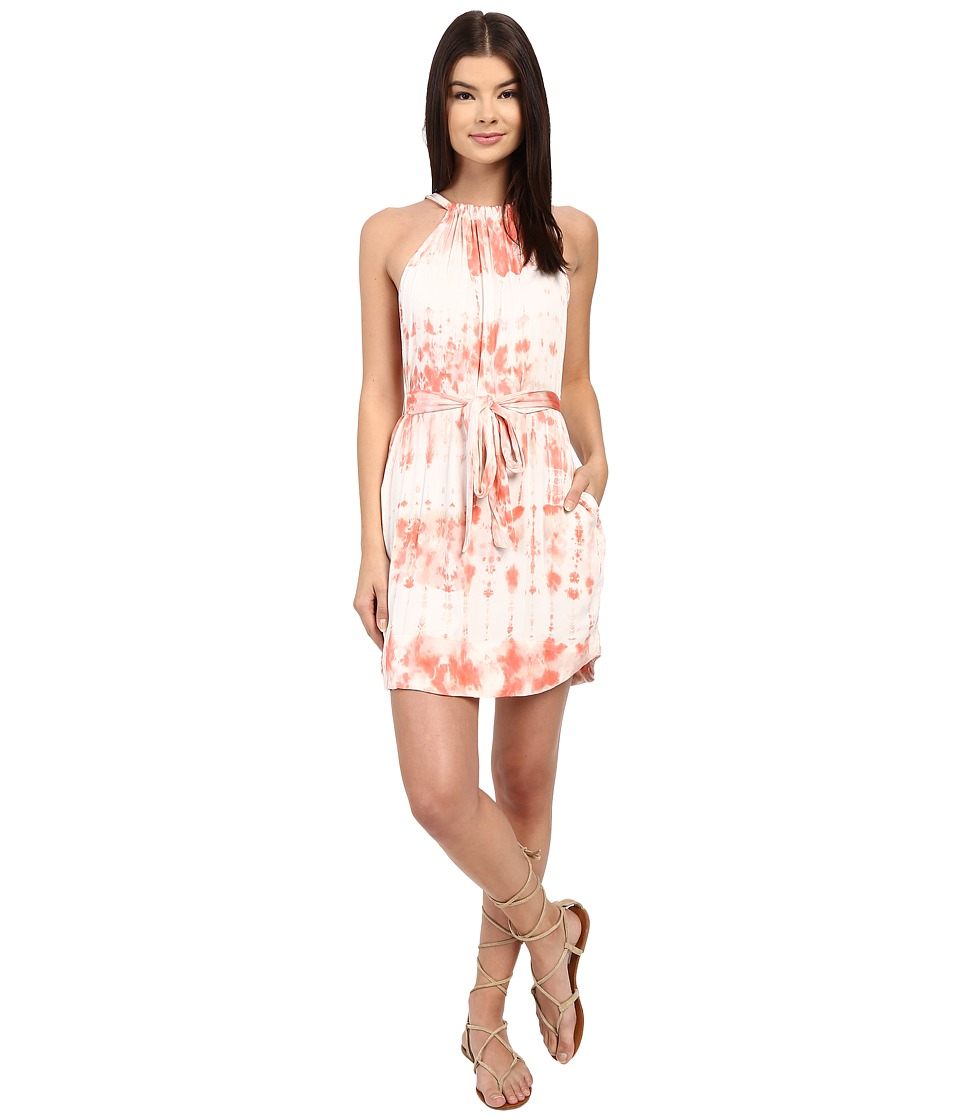 Gypsy05 Halter Mini Dress with Waist Belt Blush Womens Dress