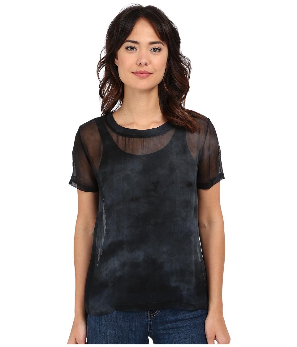 Gypsy05 Sheer Crew Neck Tee Slate Womens T Shirt