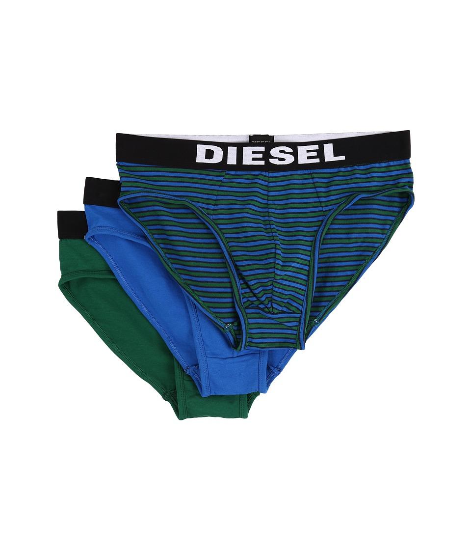 Diesel Andre 3 Pack Boxer AALJ Green/Blue Mens Underwear