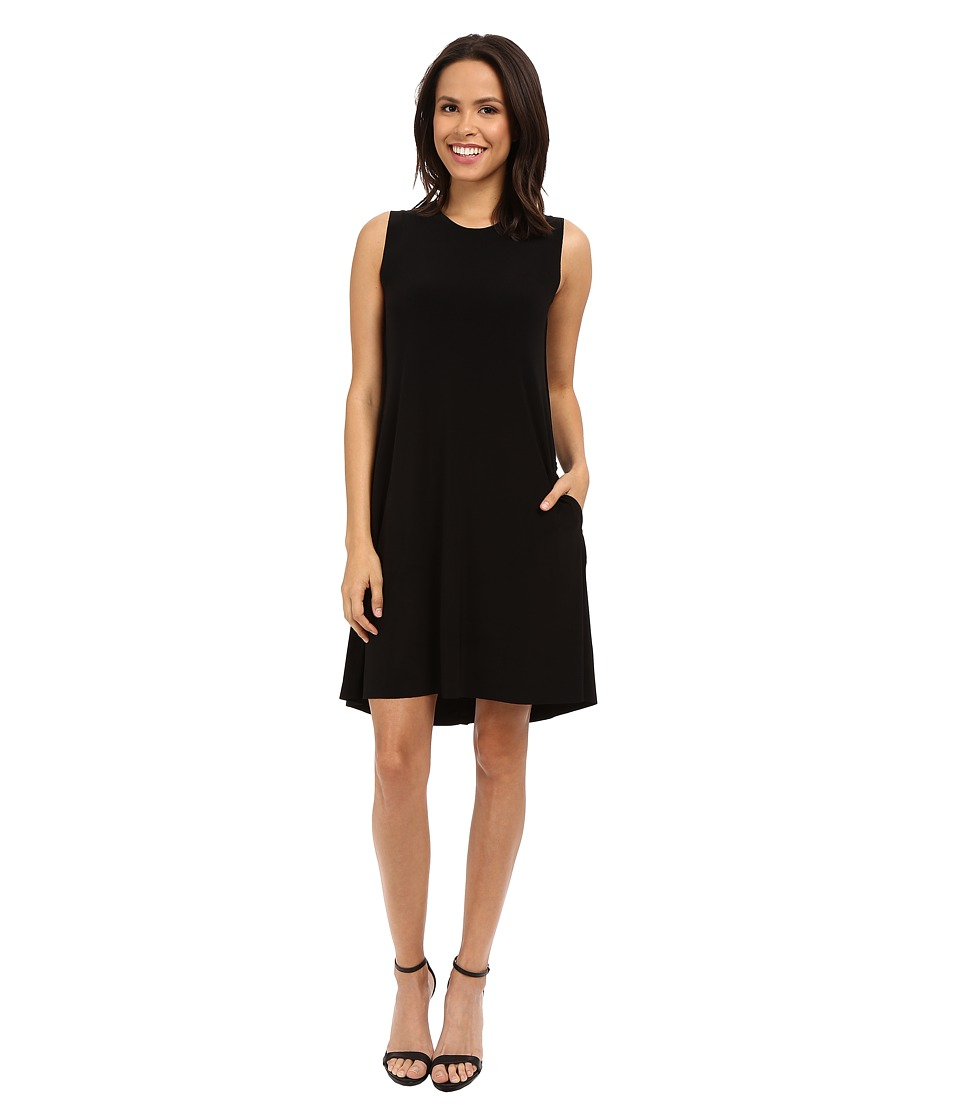 KAMALIKULTURE by Norma Kamali Sleeveless Swing Dress Black Womens Dress