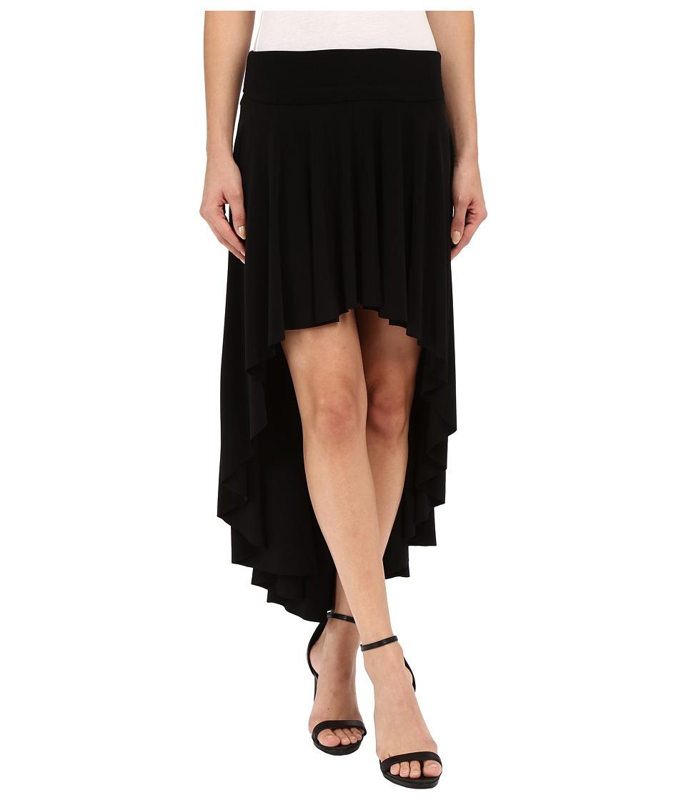 KAMALIKULTURE by Norma Kamali High Low Skirt Black Womens Skirt