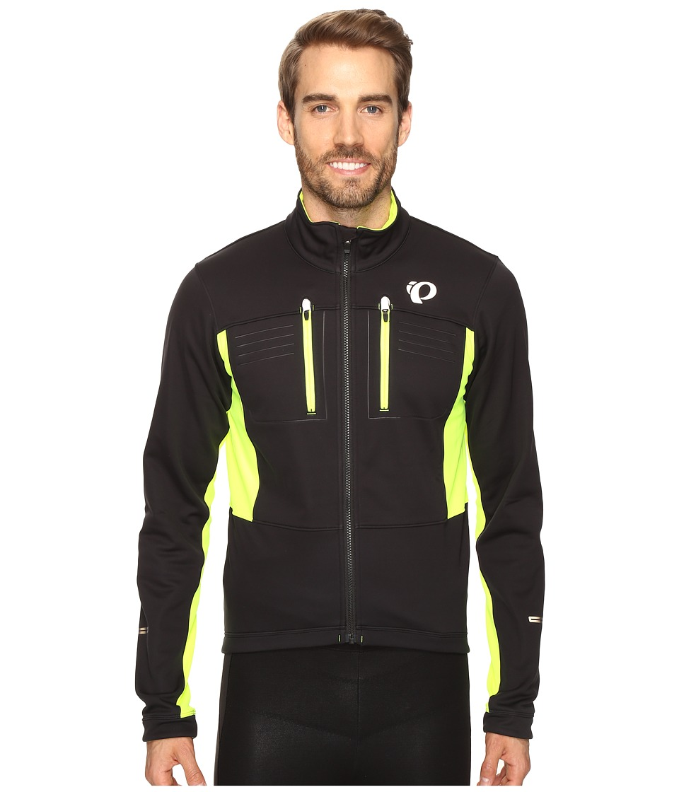 Pearl Izumi Elite Escape Softshell Jacket (Black/Screaming Yellow) Men