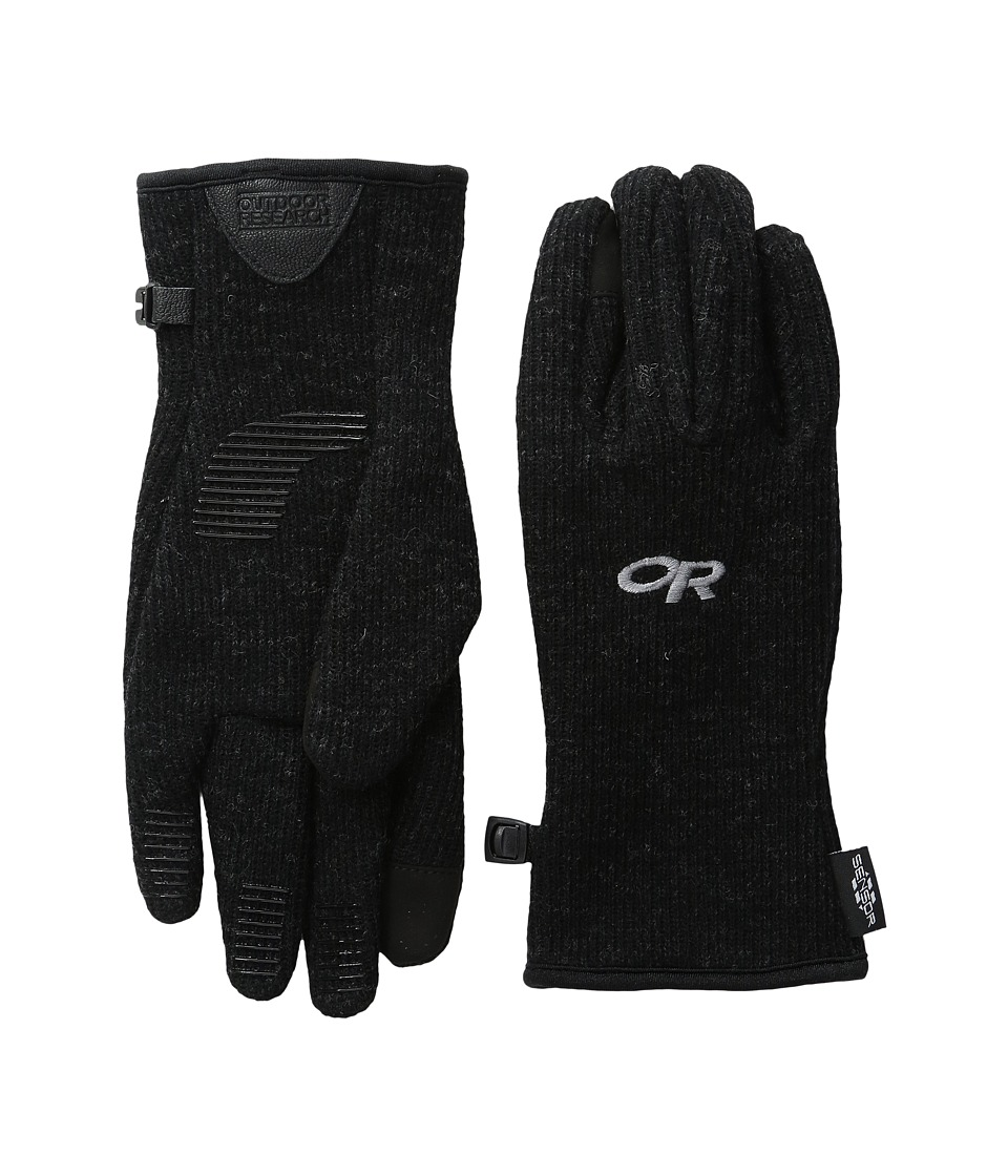 Outdoor Research Flurry Sensor Gloves (Black) Extreme Cold Weather Gloves