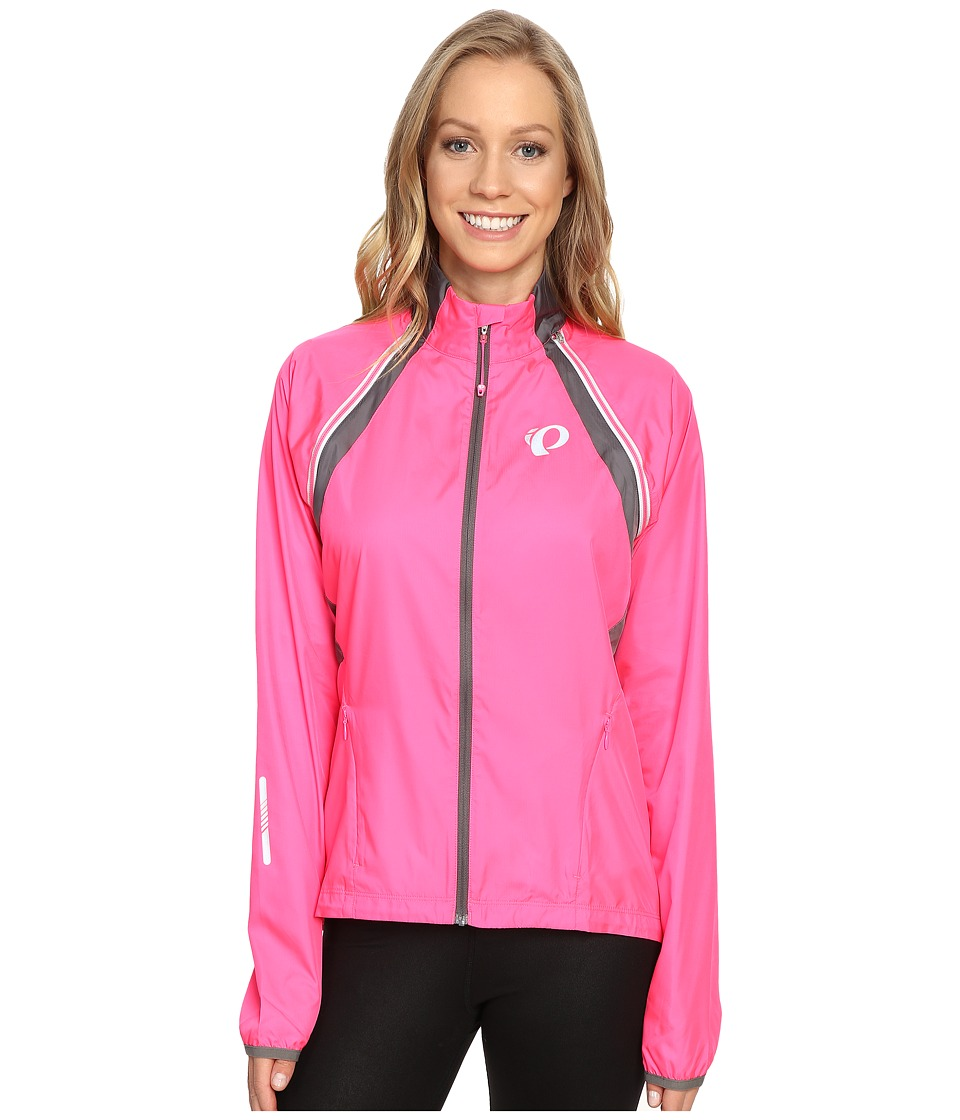 Pearl Izumi - W ELITE Barrier Convertible Cycling Jacket (Screaming Pink/Smoked Pearl) Womens Workout