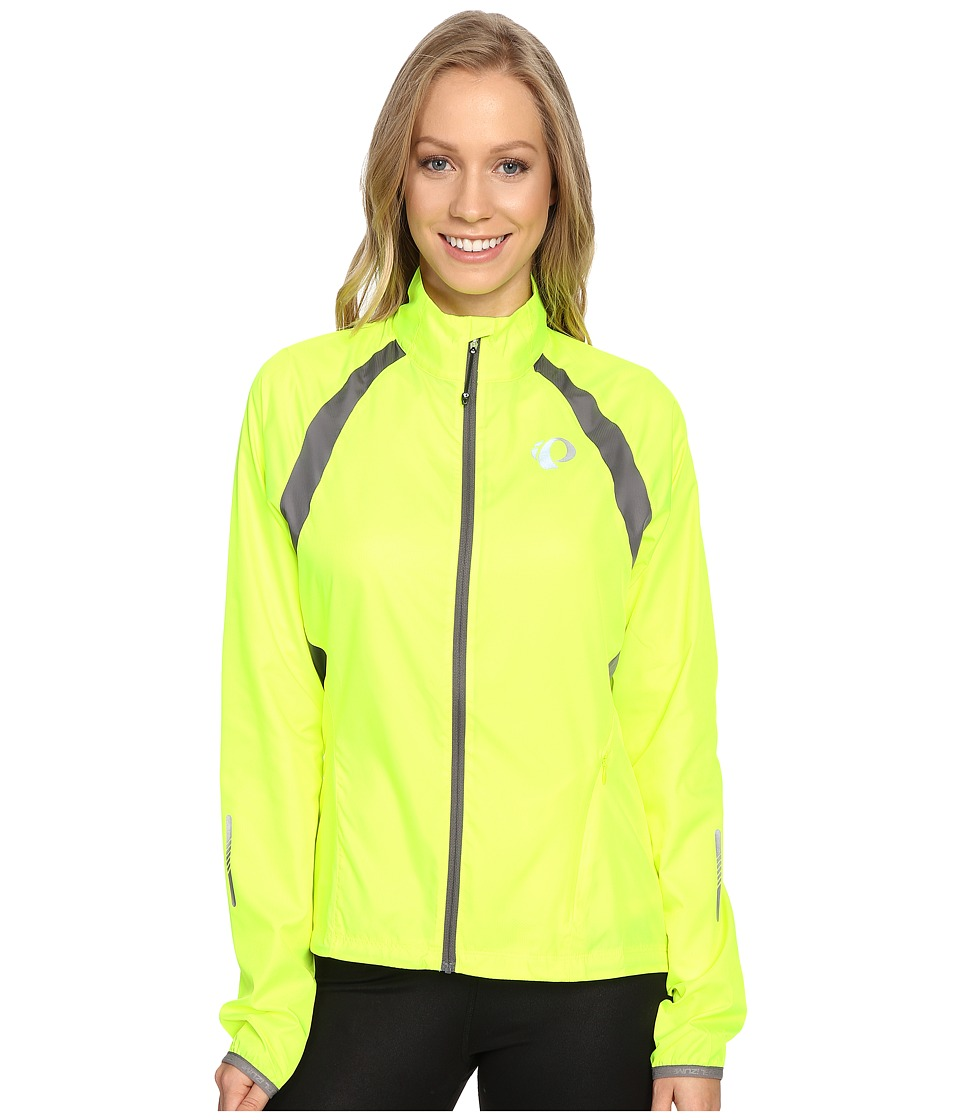 Pearl Izumi - W ELITE Barrier Cycling Jacket (Screaming Yellow/Smoked Pearl) Womens Workout