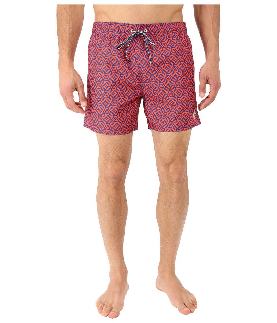 Ted Baker Abstri Large Geo Shortti Orange Mens Swimwear