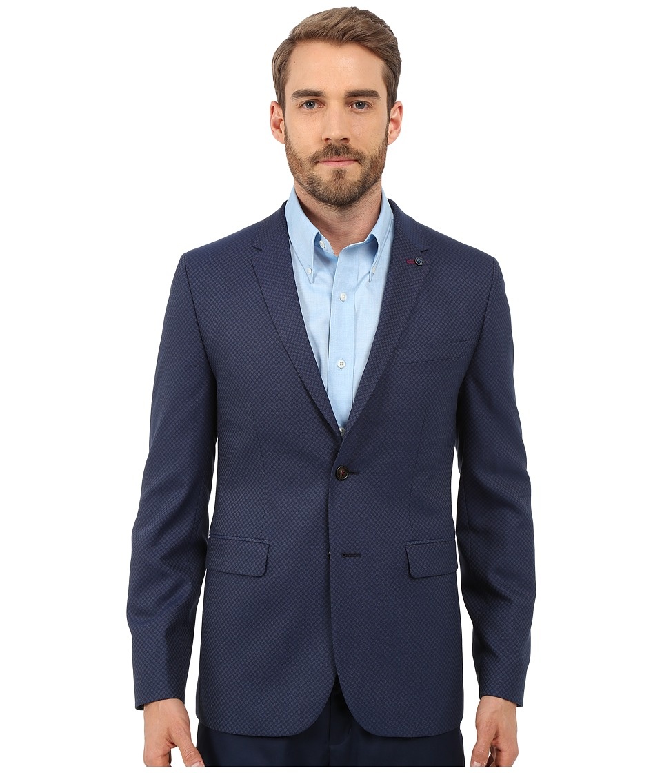Ted Baker Hanclap Mini Design Blazer Dark Blue Mens Jacket