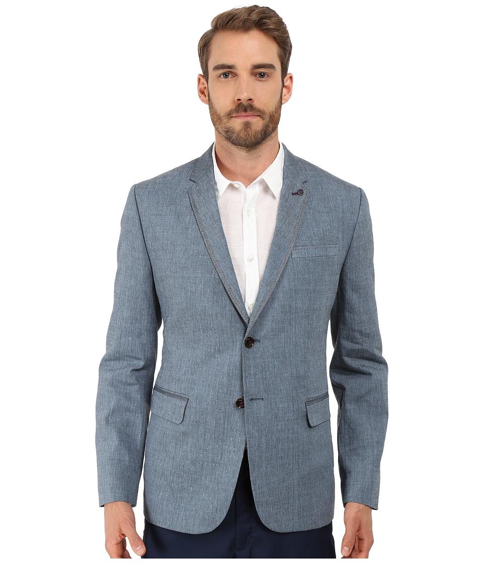Ted Baker Fiveban Linen Blazer Blue Mens Jacket