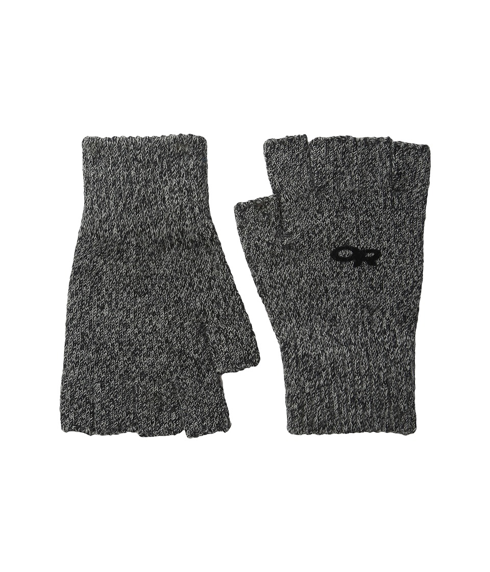 Outdoor Research Fairbanks Fingerless Gloves (Charcoal) Extreme Cold Weather Gloves