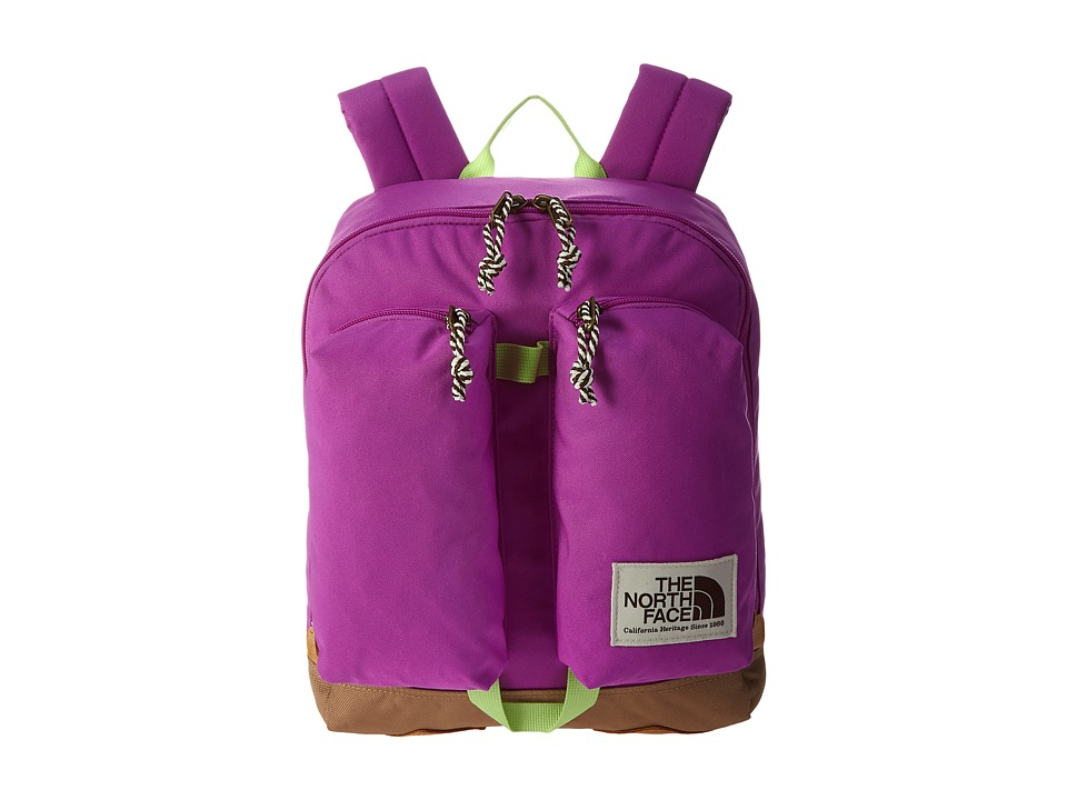 The North Face - Mini Crevasse (Big Kid) (Sweet Violet/Budding Green) Backpack Bags
