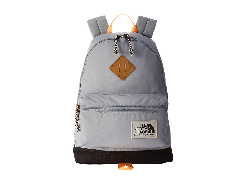 The North Face - Mini Berkeley (Little Kid/Big Kid) (High Rise Grey/Naranja Orange) Backpack Bags