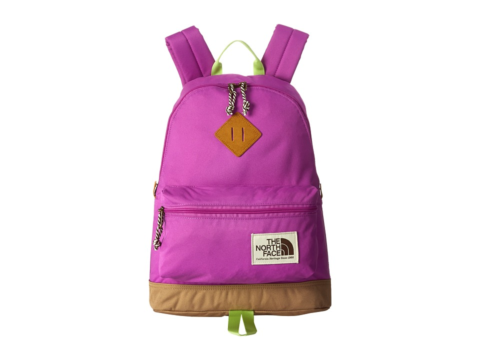 The North Face - Mini Berkeley (Little Kid/Big Kid) (Sweet Violet/Budding Green) Backpack Bags