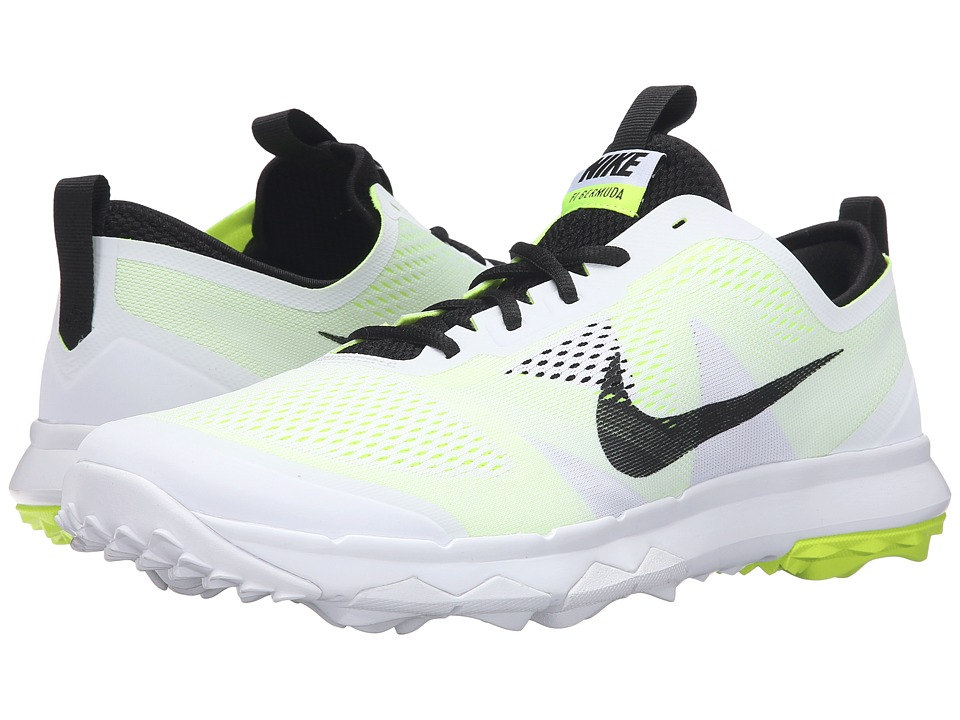 Nike Golf - FI Bermuda (White/Volt/Black) Men