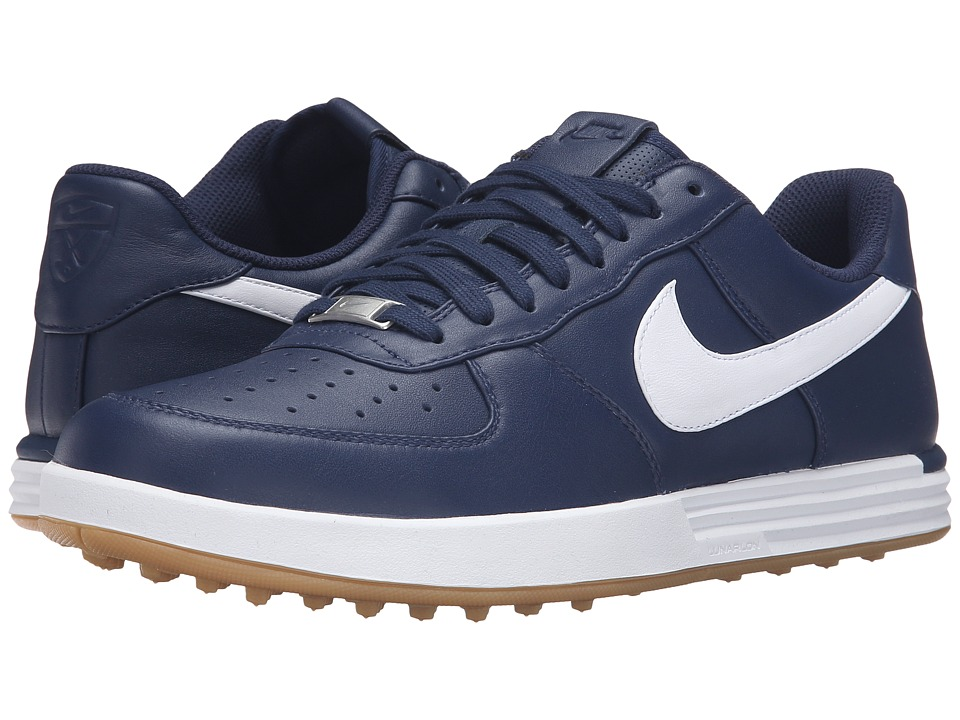 Nike Golf - Lunar Force 1 (Midnight Navy/Gum Yellow/White) Mens Golf Shoes