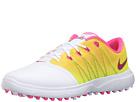 Nike Golf Lunar Empress 2 (White/Pink Blast/Volt/Noble Red)