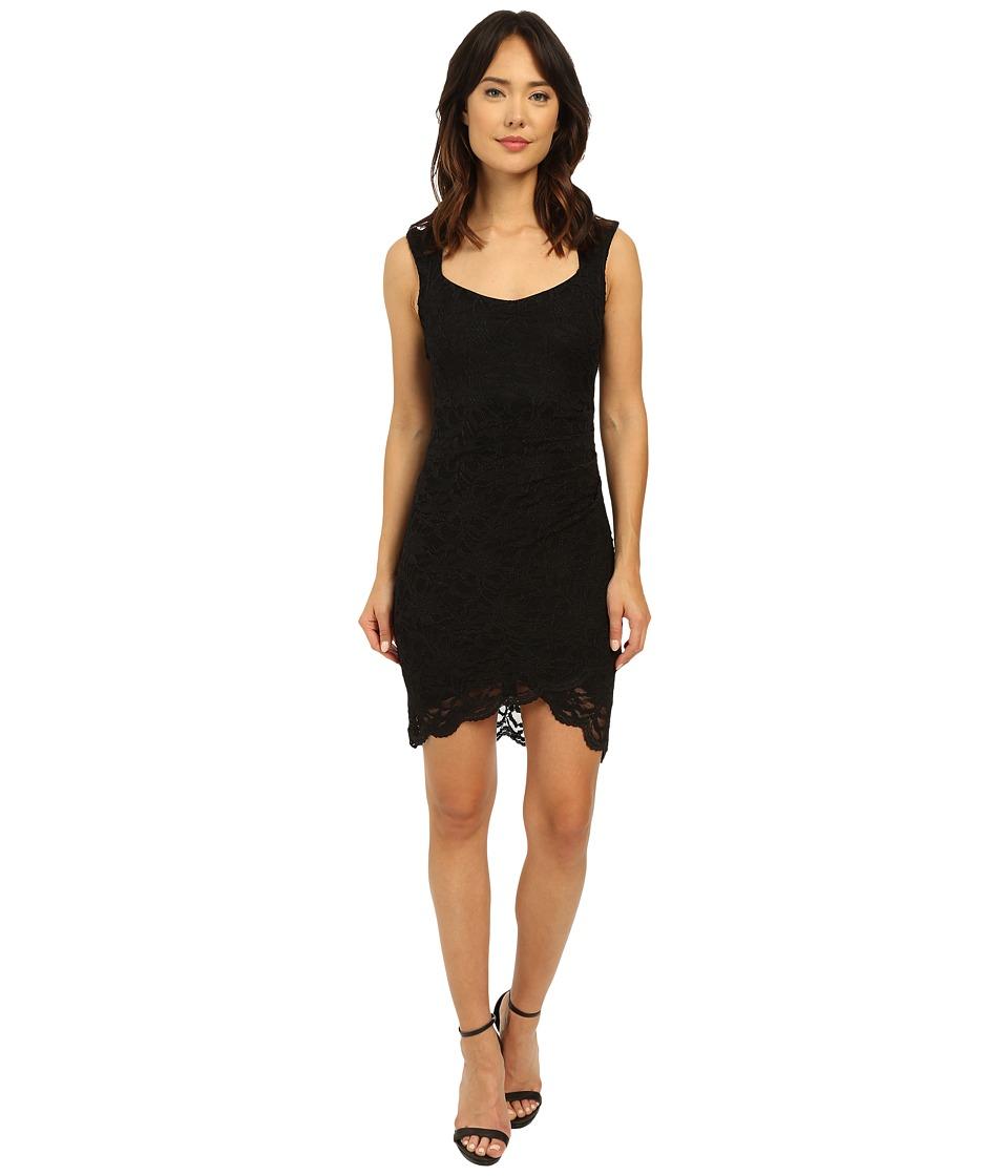 rsvp Eleanor Mock Wrap Lace Dress Black Womens Dress